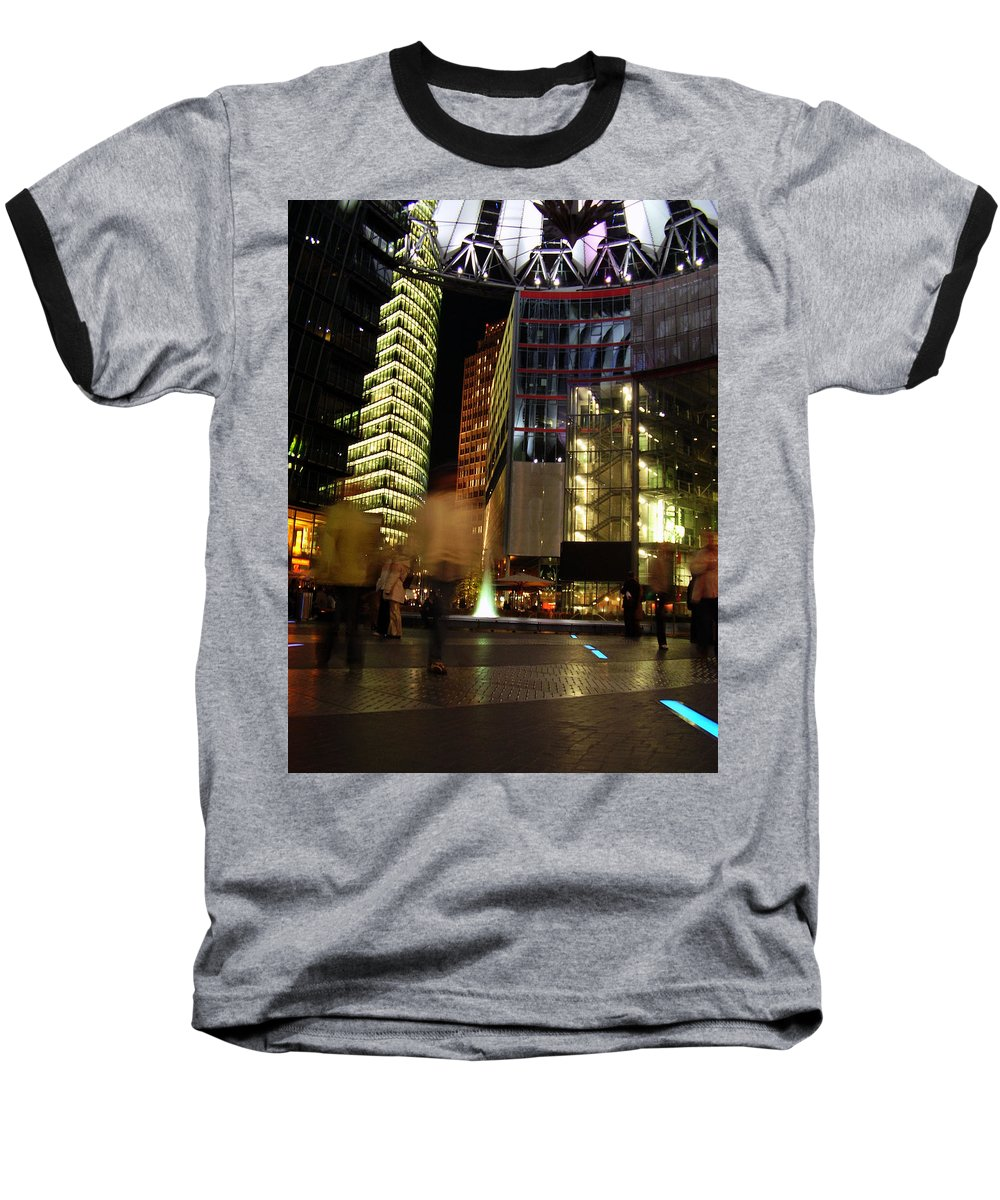Sony Center Baseball T-Shirt featuring the photograph Sony Center by Flavia Westerwelle