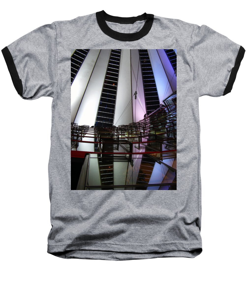 Sony Center Baseball T-Shirt featuring the photograph Sony Center II by Flavia Westerwelle
