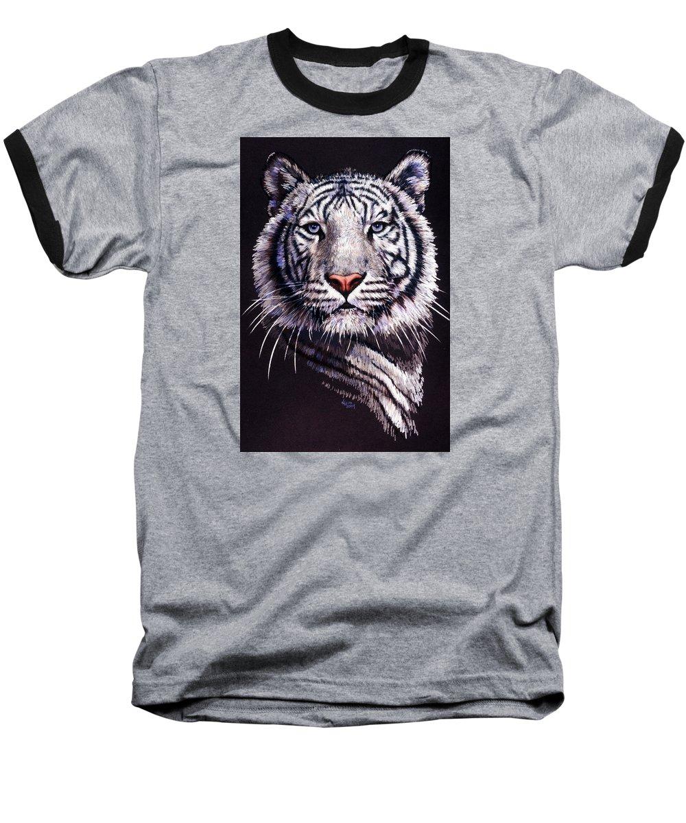 Tiger Baseball T-Shirt featuring the drawing Sorcerer by Barbara Keith