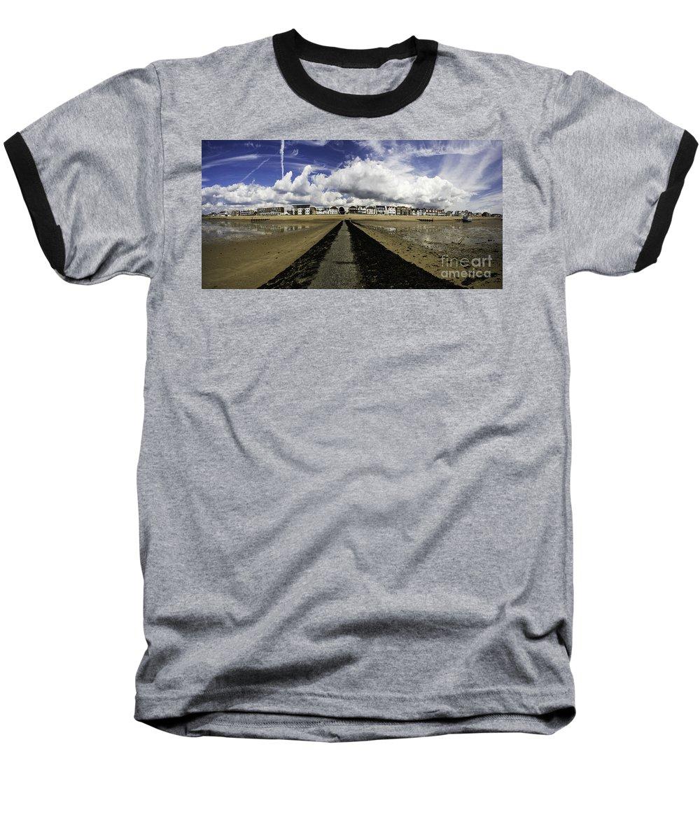 Southend On Sea Baseball T-Shirt featuring the photograph Southend On Sea Panorama by Sheila Smart Fine Art Photography