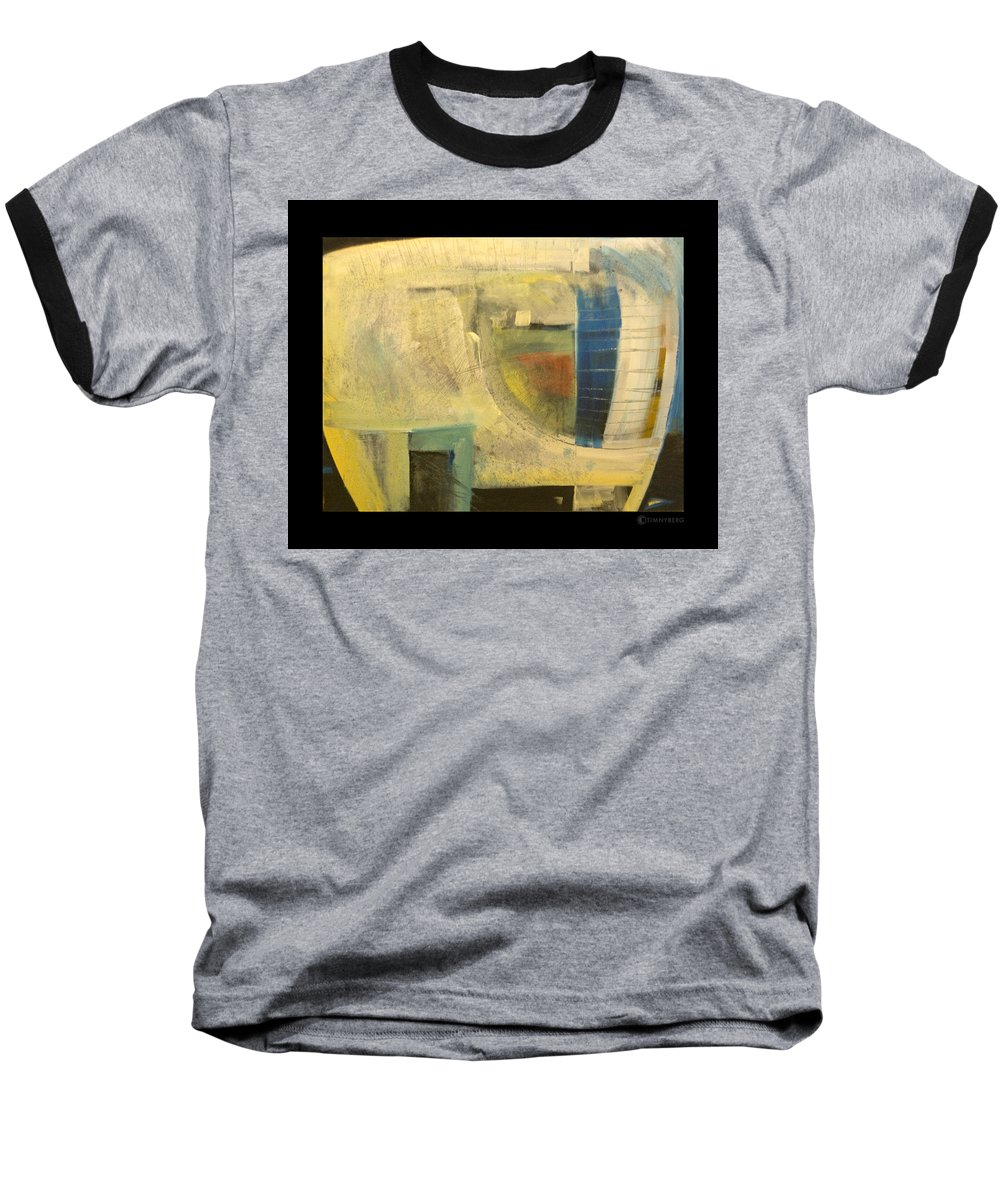 Dog Baseball T-Shirt featuring the painting Space Dog by Tim Nyberg