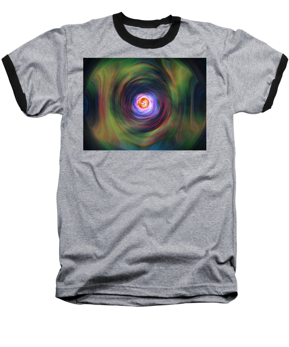 Abstrract Baseball T-Shirt featuring the digital art Space Time Sequence by Don Quackenbush