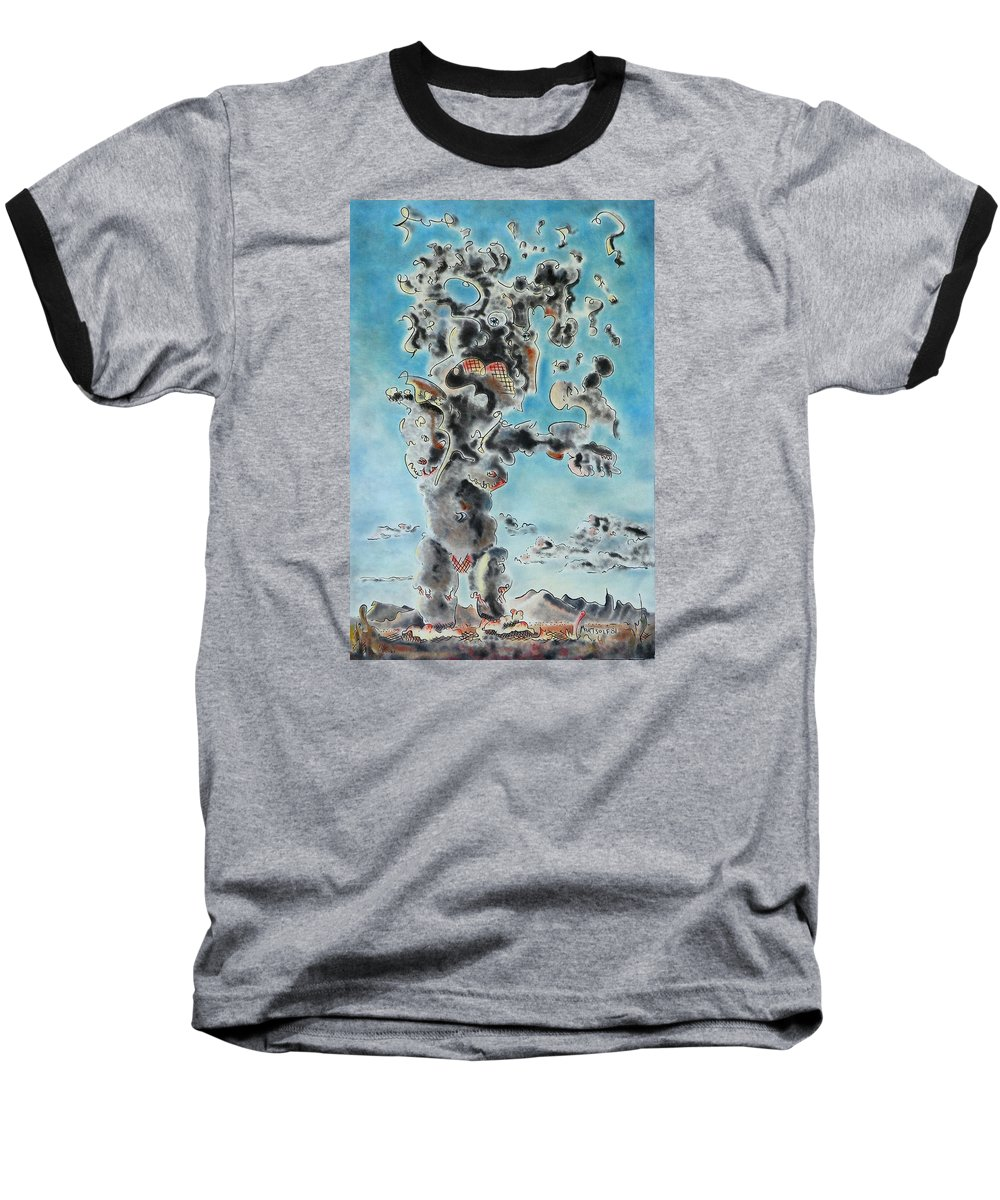 Surreal Baseball T-Shirt featuring the painting Spectre by Dave Martsolf