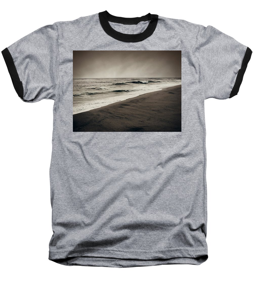Ocean Baseball T-Shirt featuring the photograph Spending My Days Escaping Memories by Dana DiPasquale