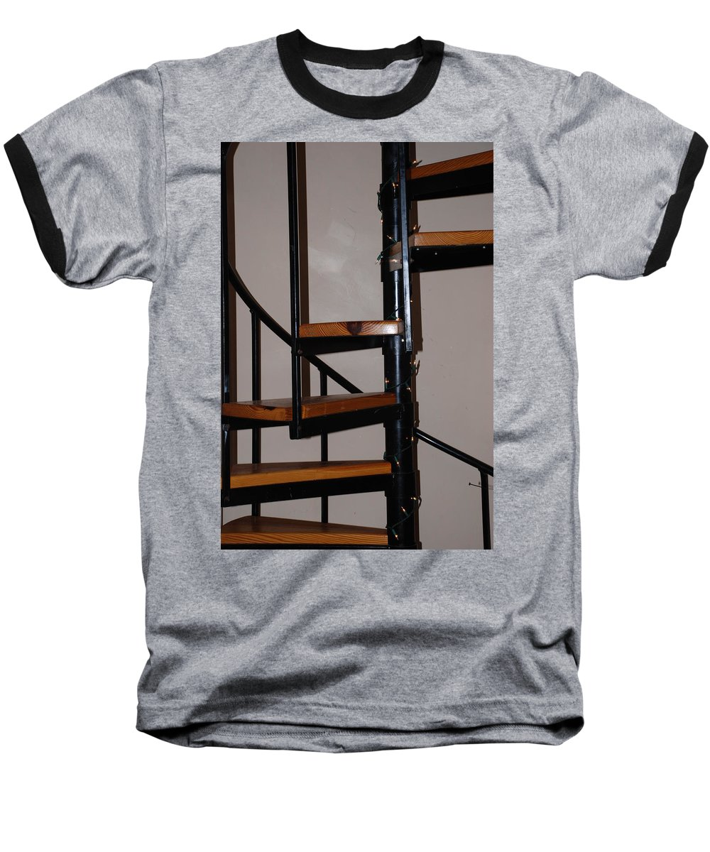 Stairs Baseball T-Shirt featuring the photograph Spiral Stairs by Rob Hans