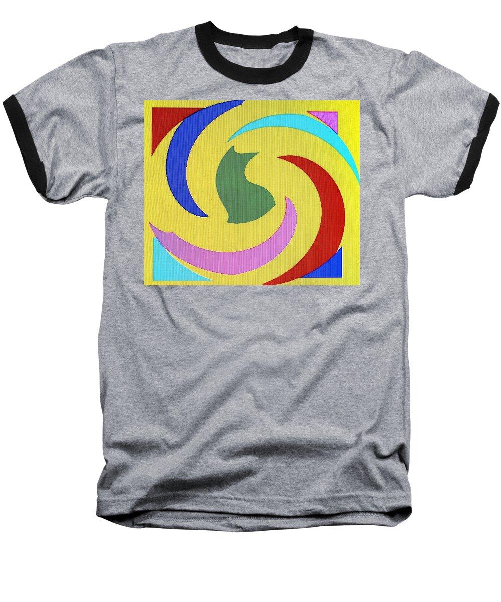 Abstract Baseball T-Shirt featuring the digital art Spiral Three by Ian MacDonald
