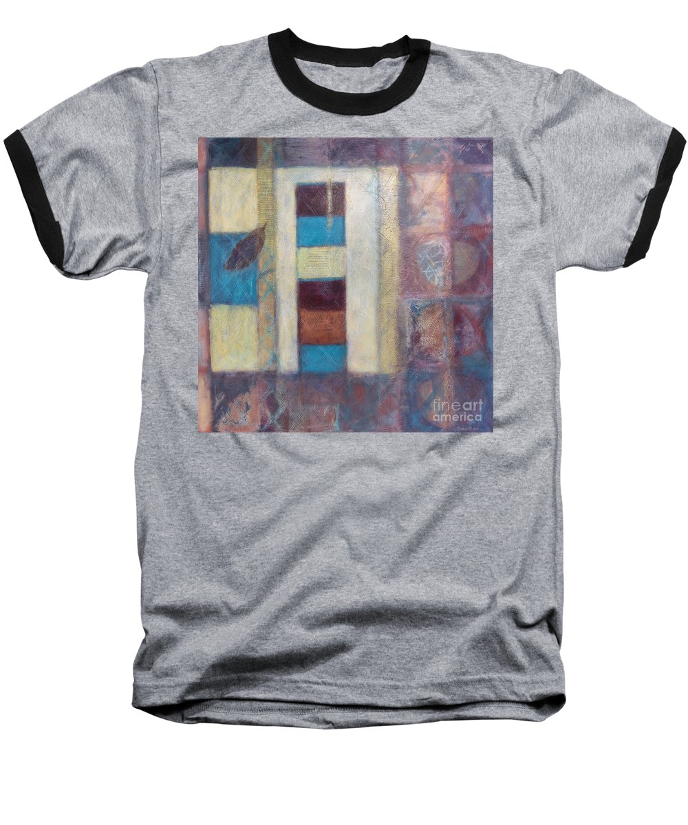 Spiritual Baseball T-Shirt featuring the painting Spirit Of Gold - States Of Being by Kerryn Madsen- Pietsch