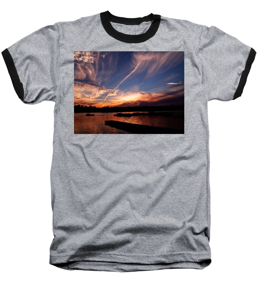Sky Baseball T-Shirt featuring the photograph Spirits In The Sky by Gaby Swanson