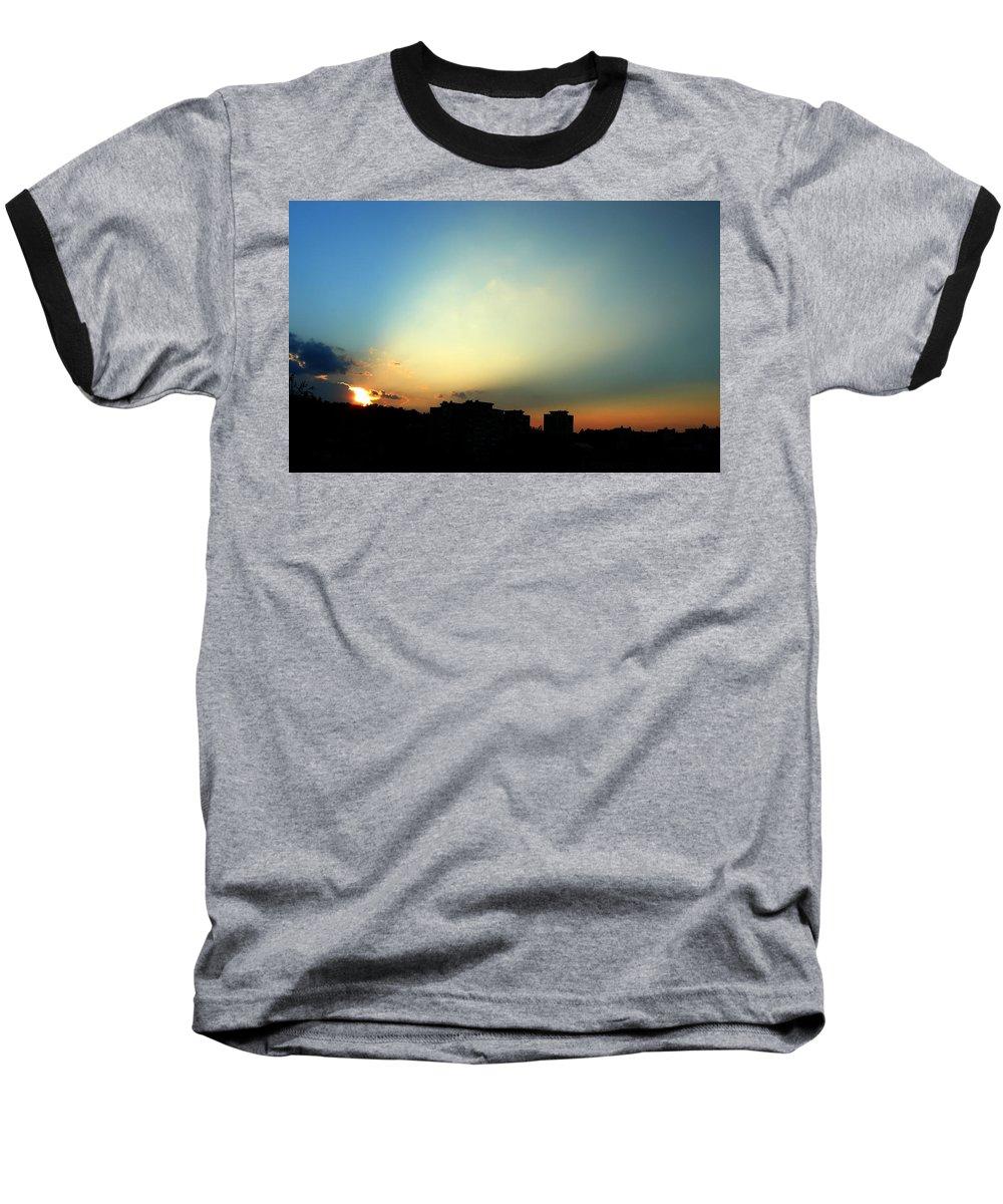 Nature Baseball T-Shirt featuring the photograph Spotlight by Daniel Csoka