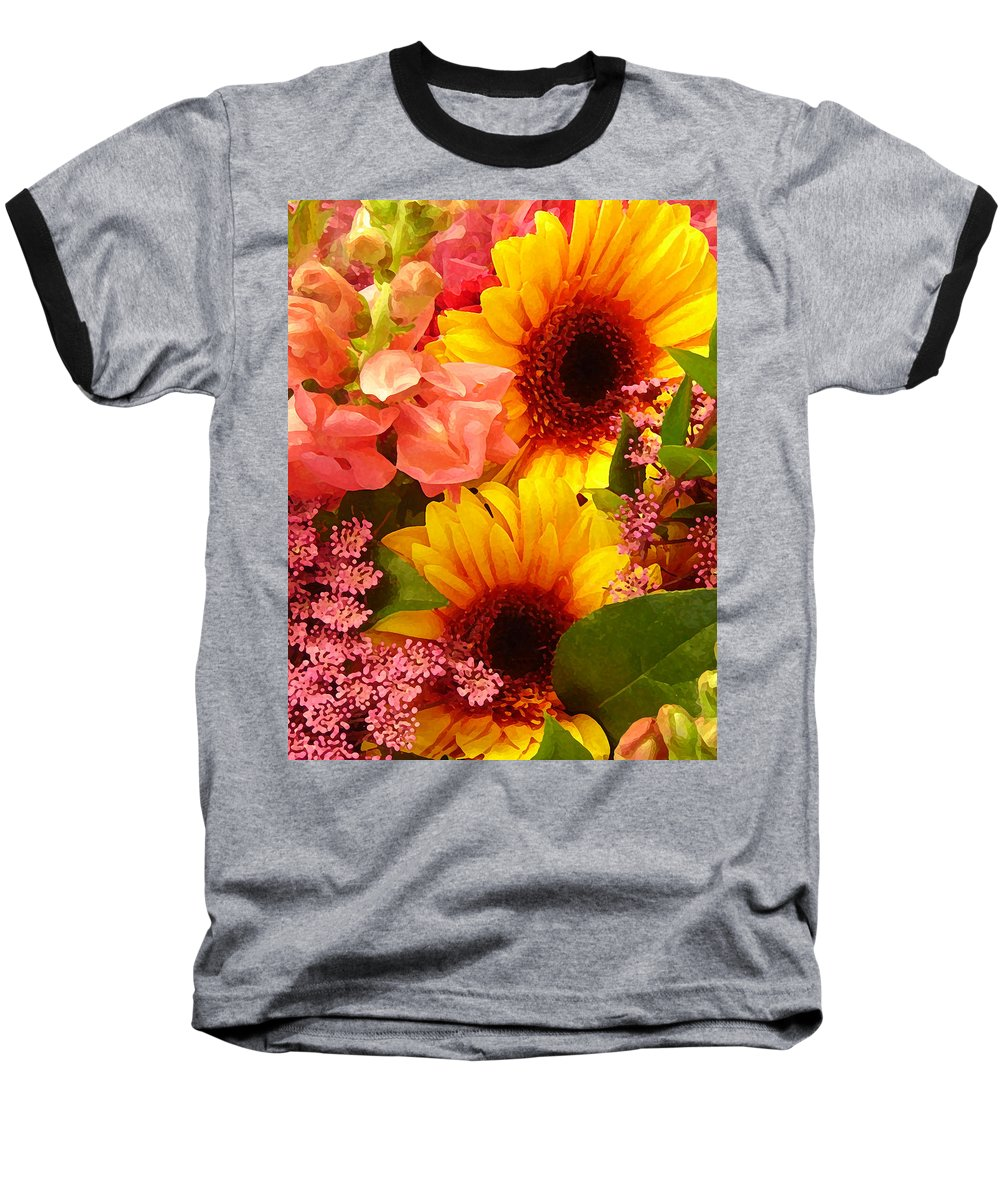 Roses Baseball T-Shirt featuring the photograph Spring Bouquet 1 by Amy Vangsgard