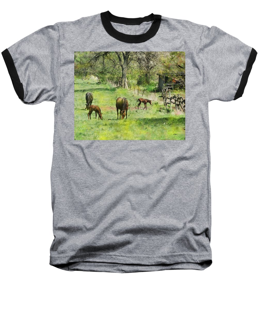 Spring Colts Baseball T-Shirt featuring the digital art Spring Colts by John Beck