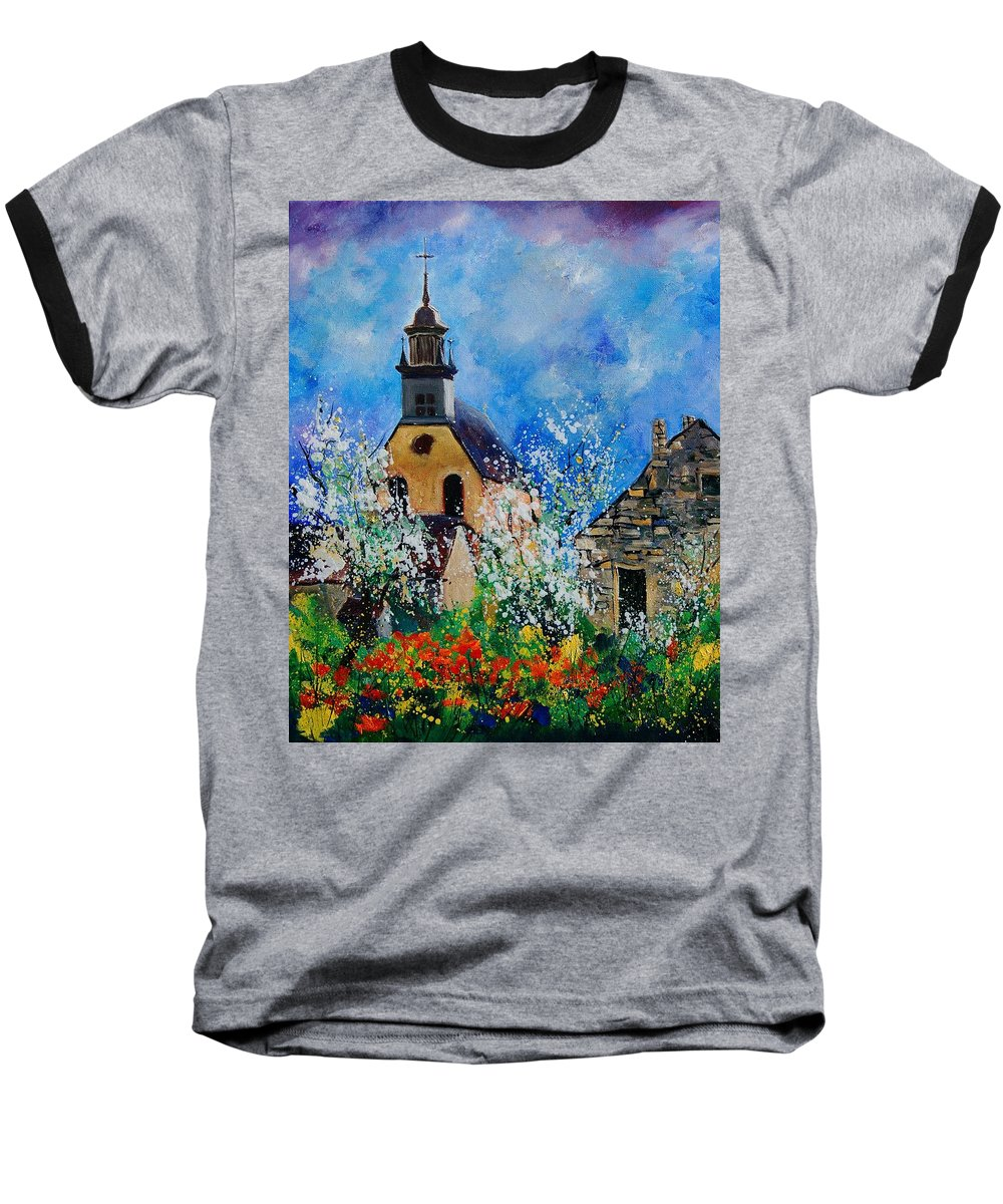 Spring Baseball T-Shirt featuring the painting Spring In Foy Notre Dame Dinant by Pol Ledent