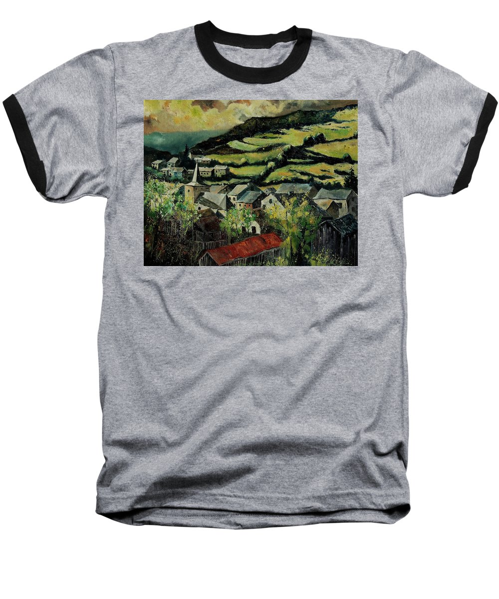 Spring Baseball T-Shirt featuring the painting Spring In Vresse Ardennes Belgium by Pol Ledent
