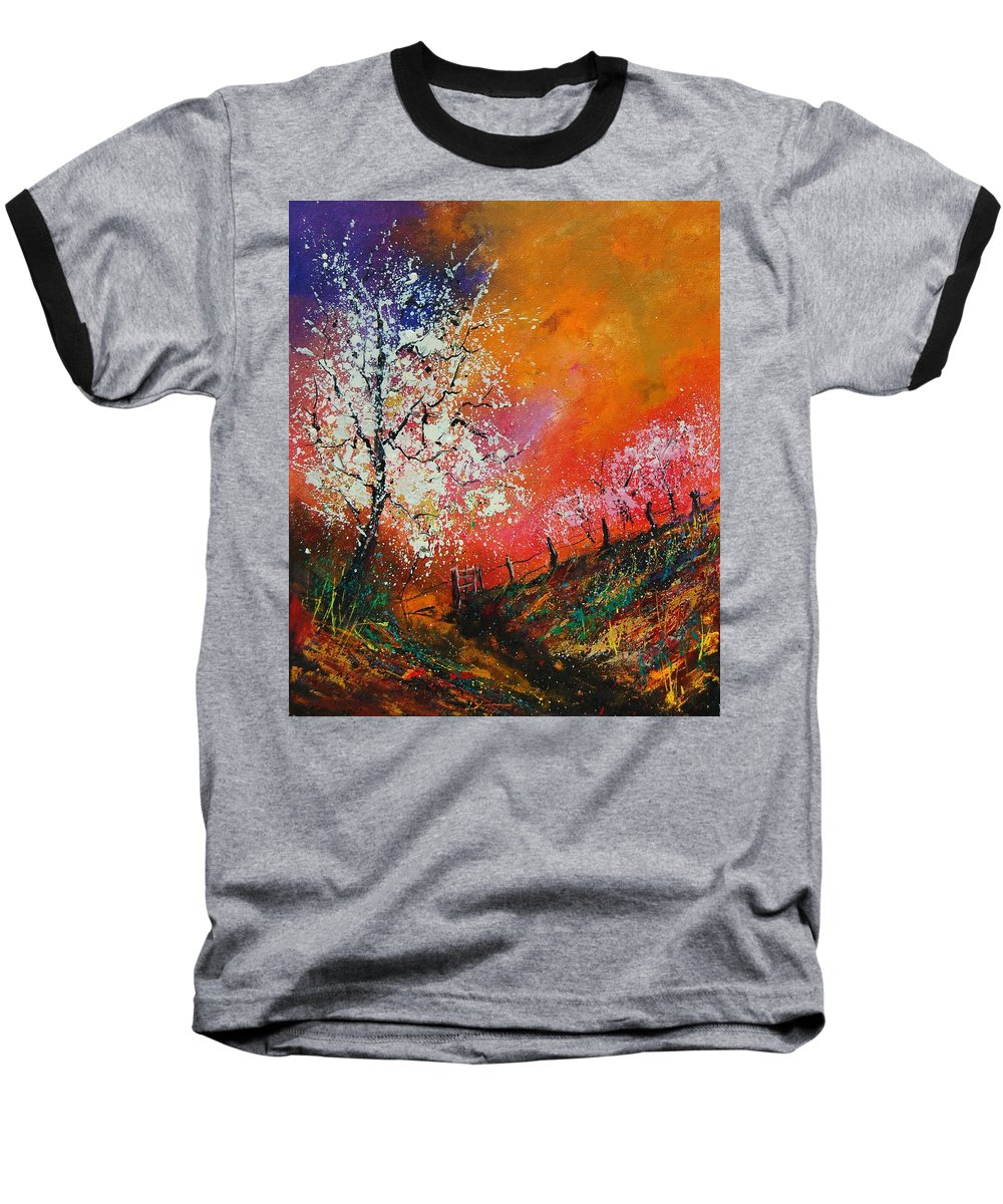 Spring Baseball T-Shirt featuring the painting Spring Today by Pol Ledent