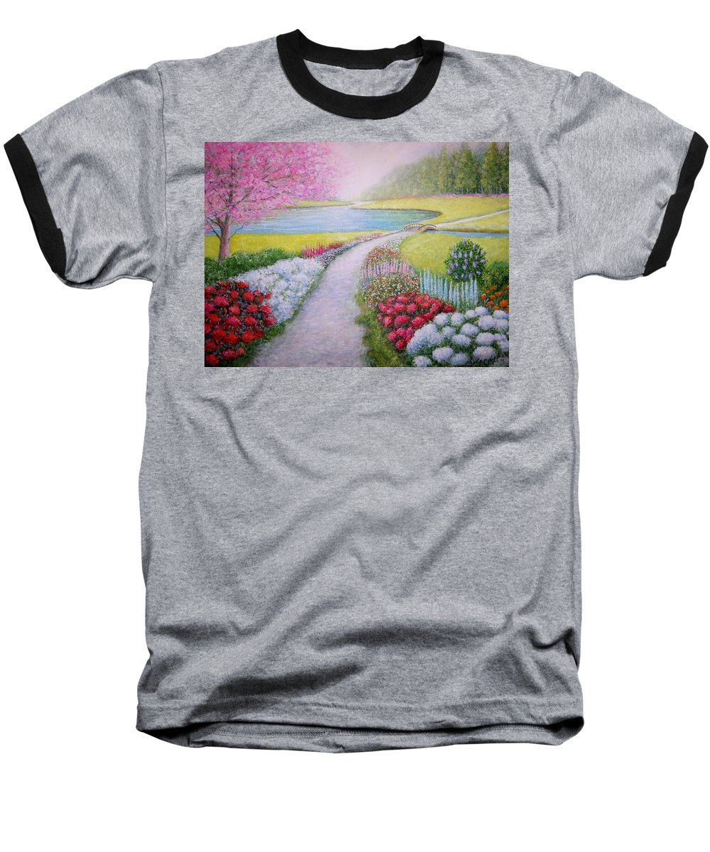 Landscape Baseball T-Shirt featuring the painting Spring by William H RaVell III