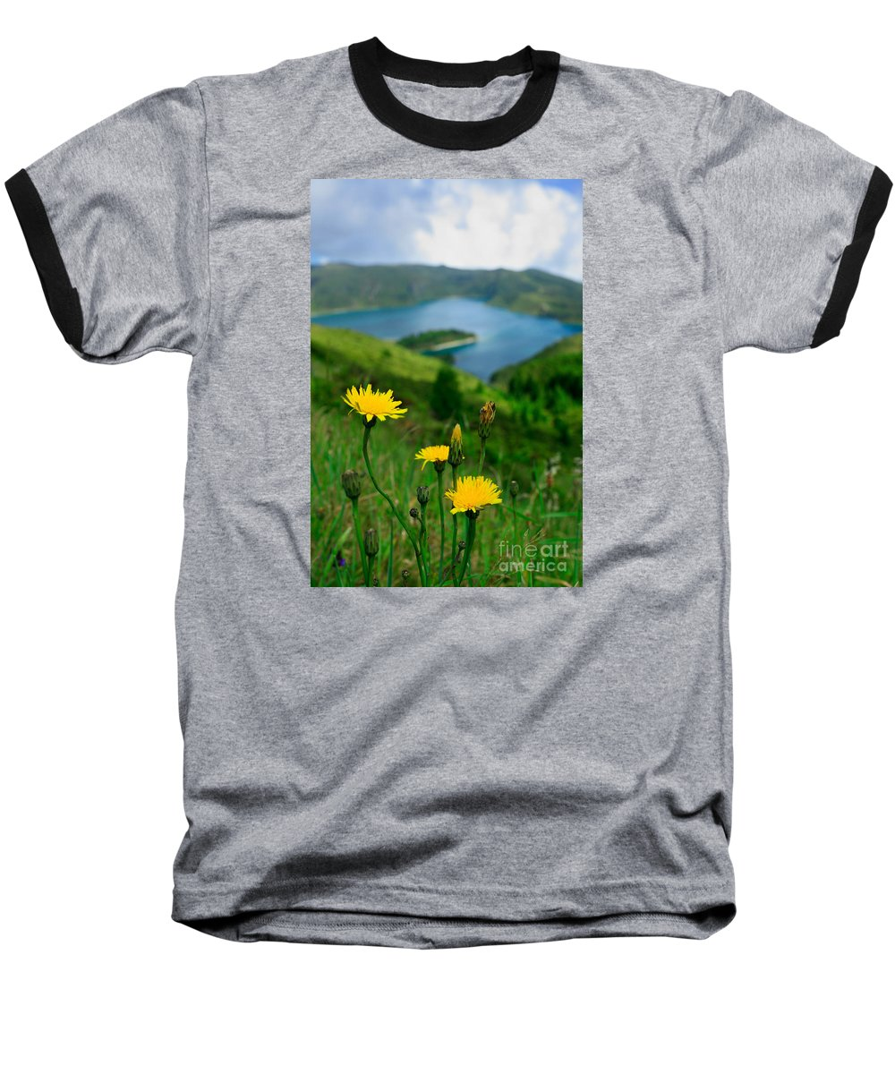 Caldera Baseball T-Shirt featuring the photograph Springtime In Fogo Crater by Gaspar Avila