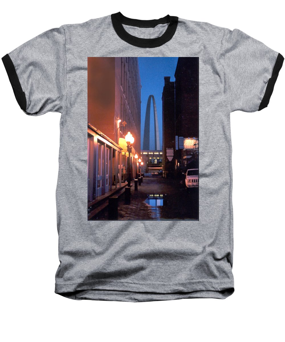 St. Louis Baseball T-Shirt featuring the photograph St. Louis Arch by Steve Karol