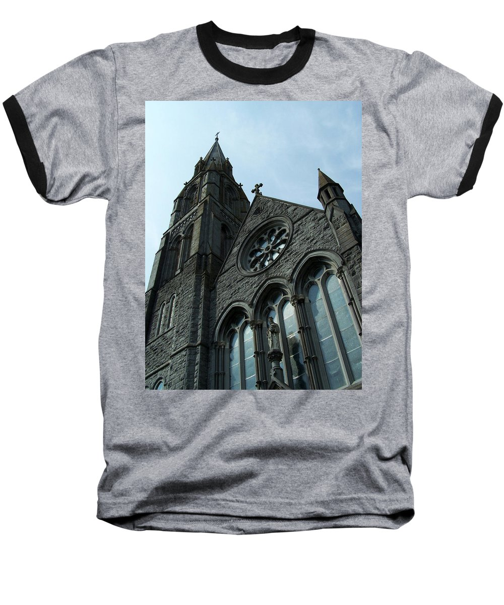 Ireland Baseball T-Shirt featuring the photograph St. Mary's Of The Rosary Catholic Church by Teresa Mucha