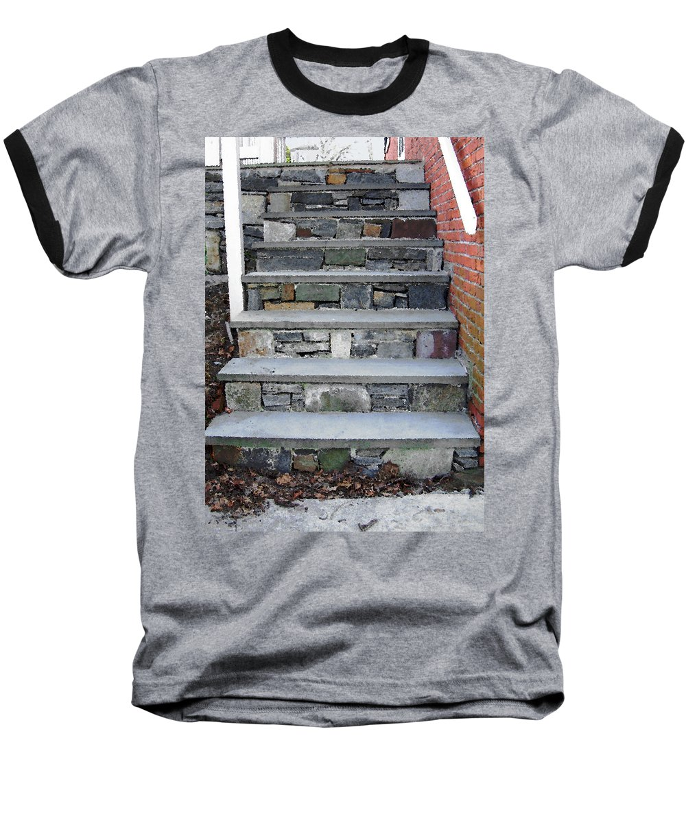Stairs Baseball T-Shirt featuring the photograph Stairs To The Plague House by RC DeWinter