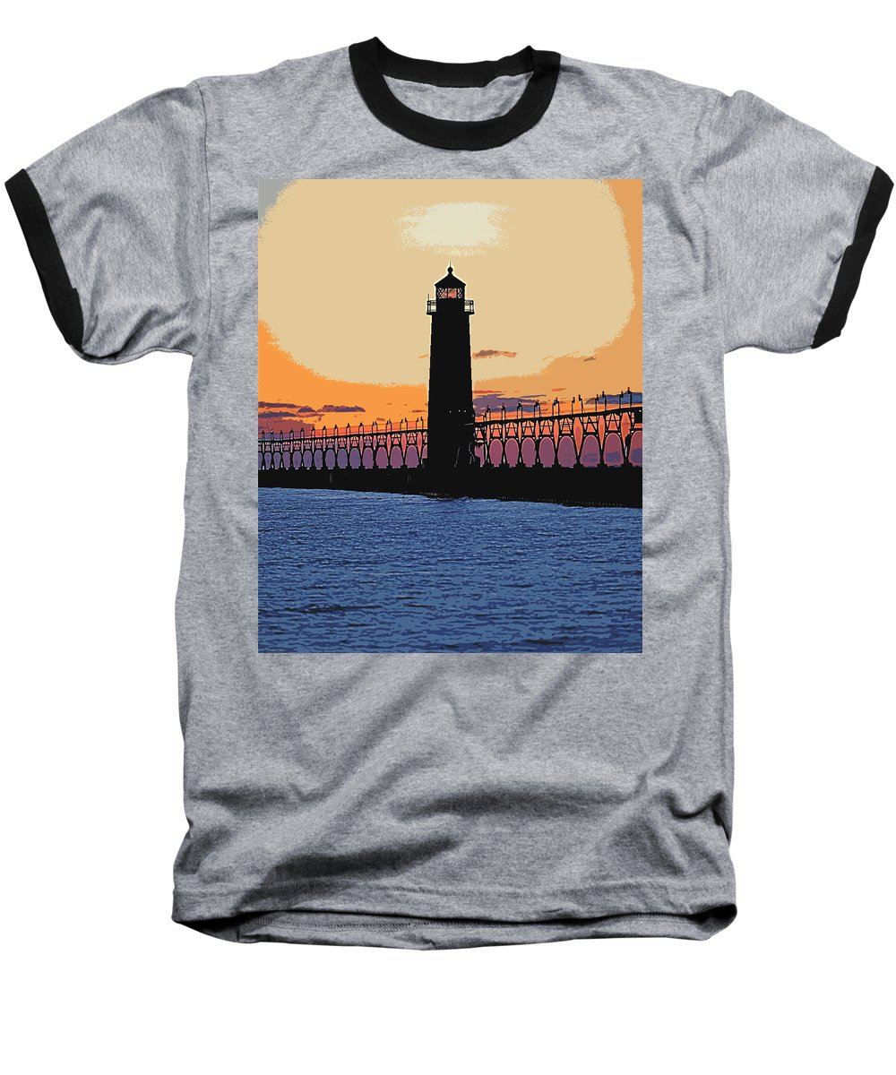 Light House Baseball T-Shirt featuring the photograph Standing Sure by Robert Pearson