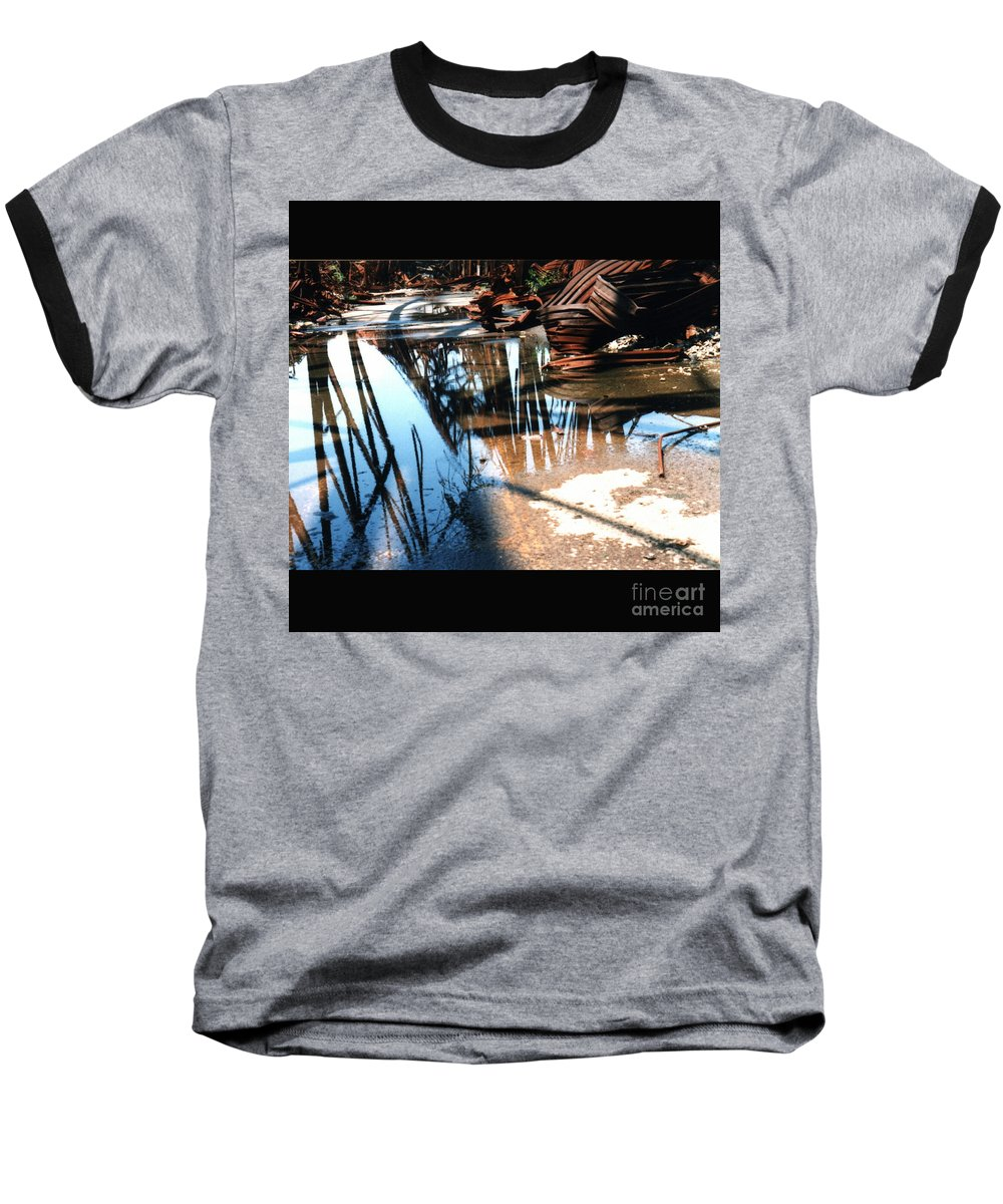Cityscape Baseball T-Shirt featuring the photograph Steel River by Ze DaLuz