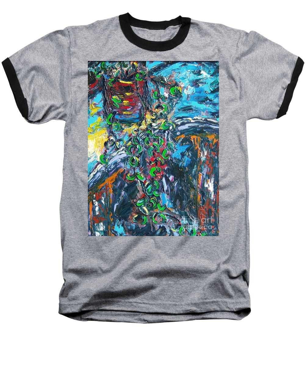 Abstract Paintings Baseball T-Shirt featuring the painting Still Life by Seon-Jeong Kim