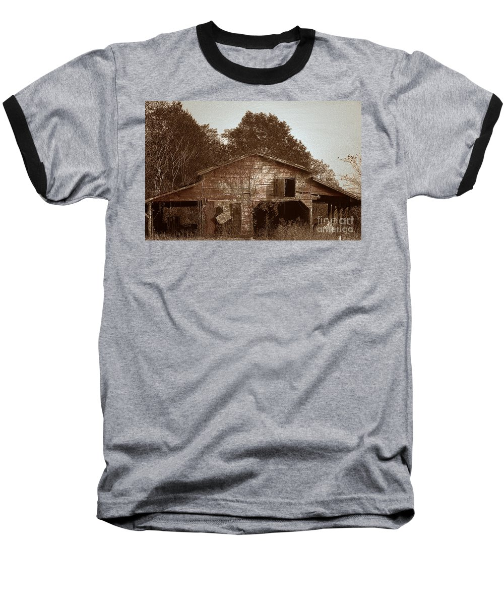Barn Baseball T-Shirt featuring the photograph Still Working by Amanda Barcon