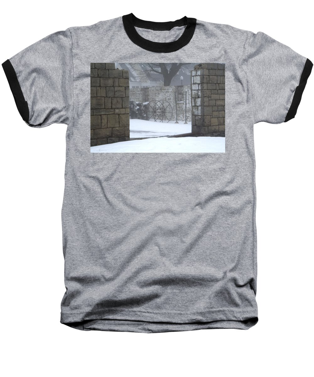 Winter Baseball T-Shirt featuring the photograph Stone Cellar by Tim Nyberg
