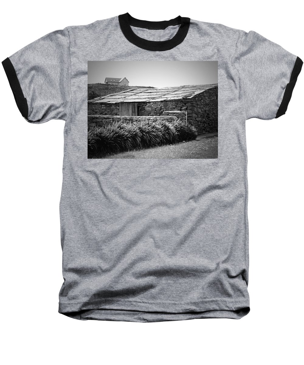 Irish Baseball T-Shirt featuring the photograph Stone Structure Doolin Ireland by Teresa Mucha