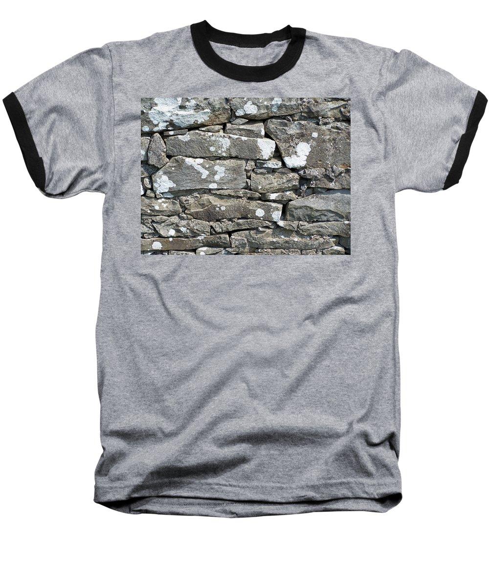 Irish Baseball T-Shirt featuring the photograph Stone Wall Detail Doolin Ireland by Teresa Mucha
