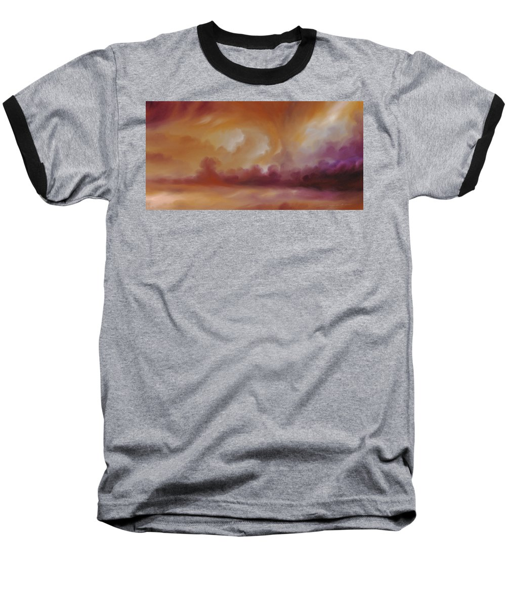 Tempest Baseball T-Shirt featuring the painting Storm Clouds 2 by James Christopher Hill
