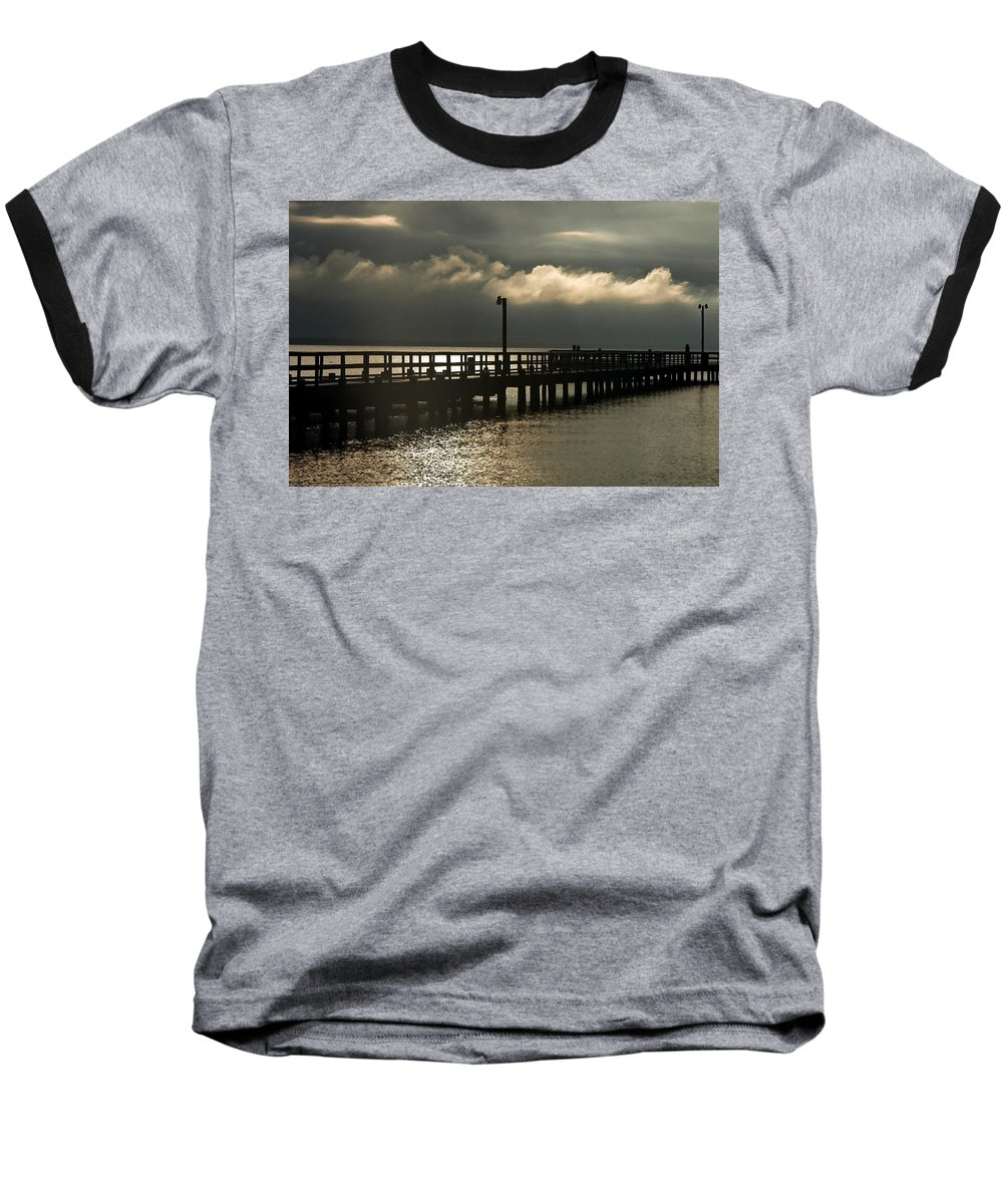 Clay Baseball T-Shirt featuring the photograph Storms Brewin' by Clayton Bruster