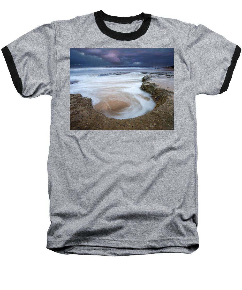 Sunrise Baseball T-Shirt featuring the photograph Stormy Sunrise by Mike Dawson