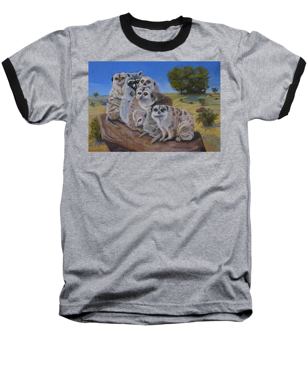 Meer Cat Baseball T-Shirt featuring the painting Stranger In A Strange Land by Heather Coen