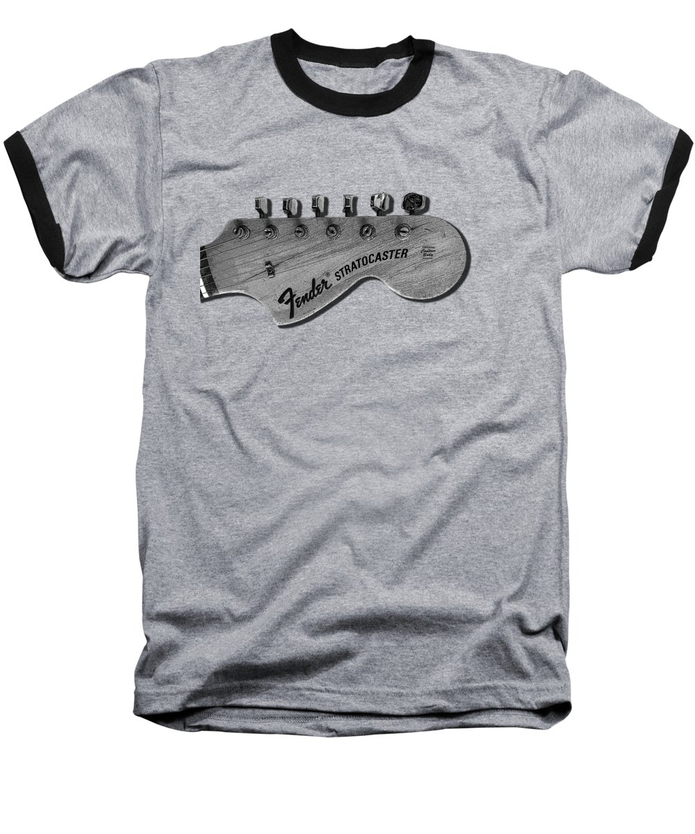 Fender Stratocaster Baseball T-Shirt featuring the photograph Stratocaster Head by Mark Rogan