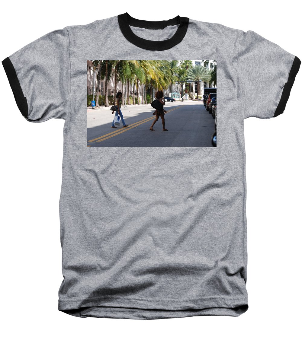 Girls Baseball T-Shirt featuring the photograph Street Walkers by Rob Hans