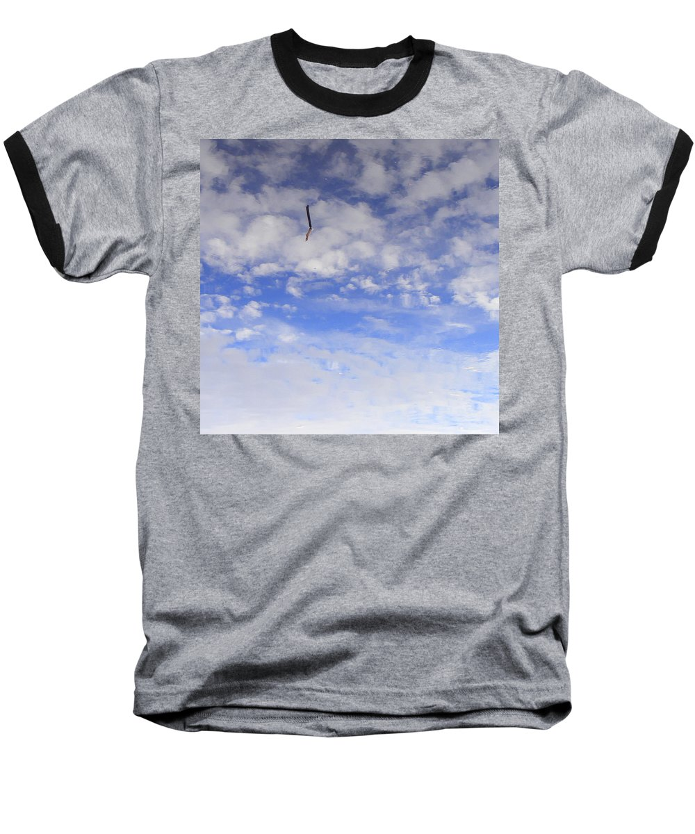 Sky Baseball T-Shirt featuring the photograph Stuck In The Clouds by Ed Smith
