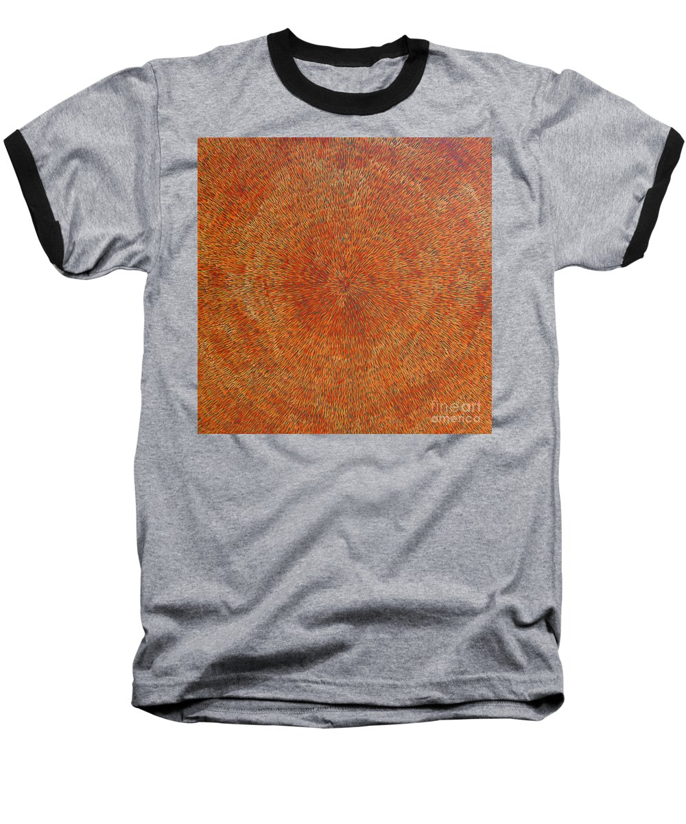 Abstract Baseball T-Shirt featuring the painting Su Gaia Earth by Dean Triolo