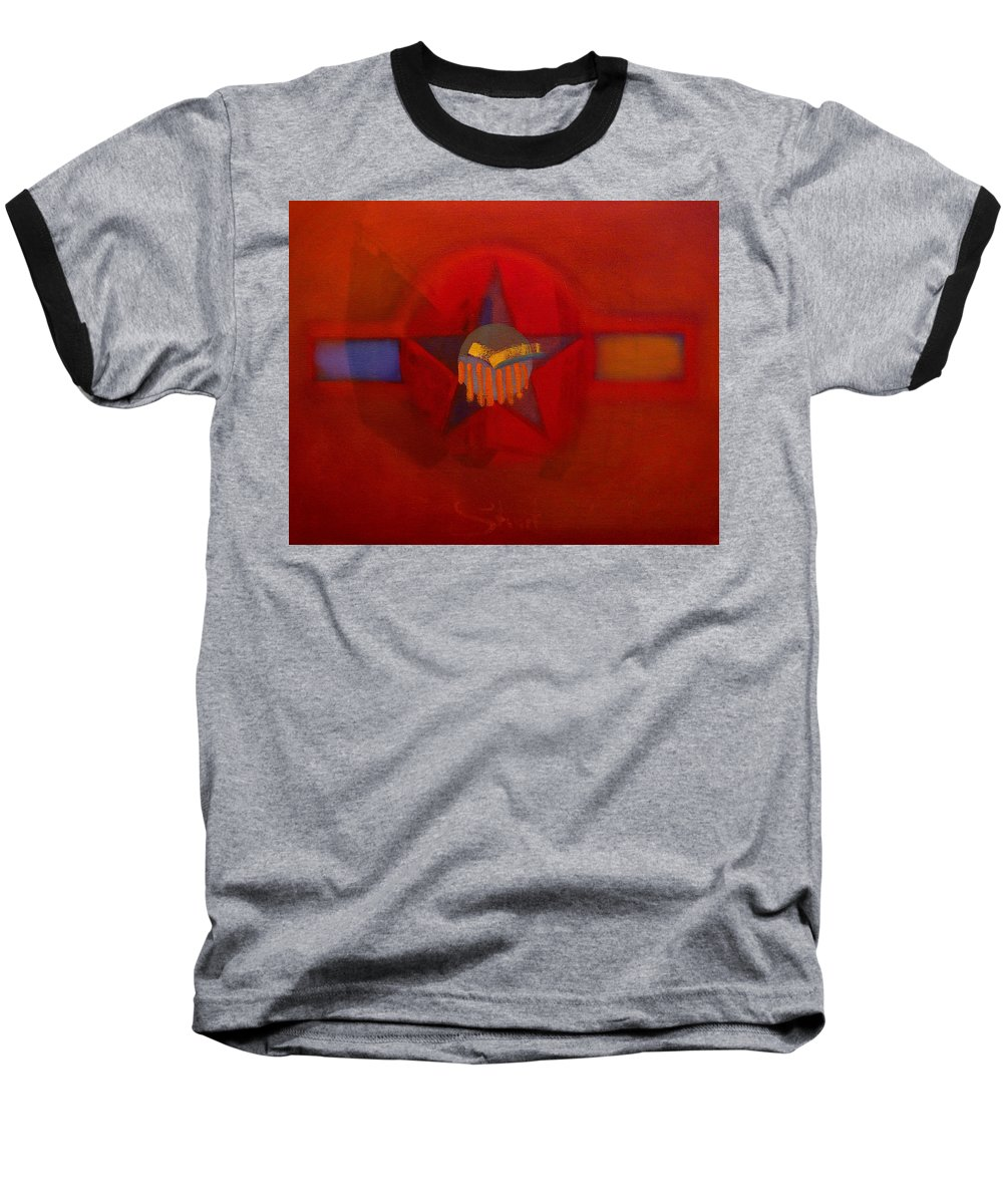 Warm Baseball T-Shirt featuring the painting Sub Decal by Charles Stuart