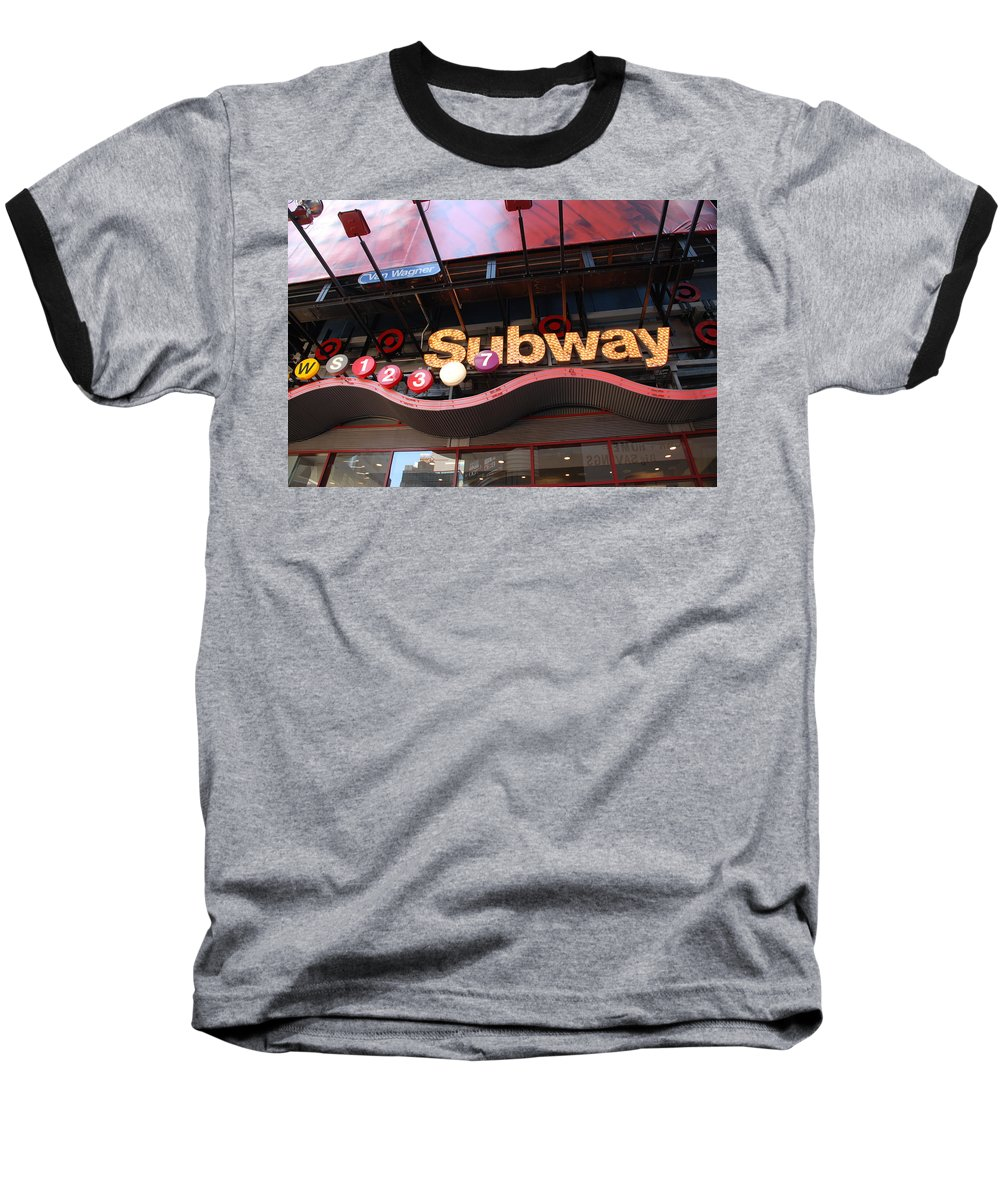 Neon Baseball T-Shirt featuring the photograph Subway by Rob Hans
