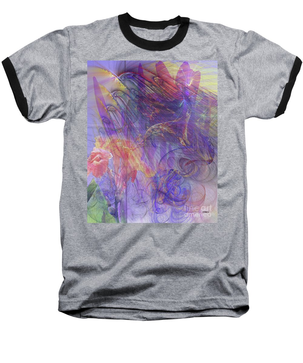 Summer Awakes Baseball T-Shirt featuring the digital art Summer Awakes by John Beck
