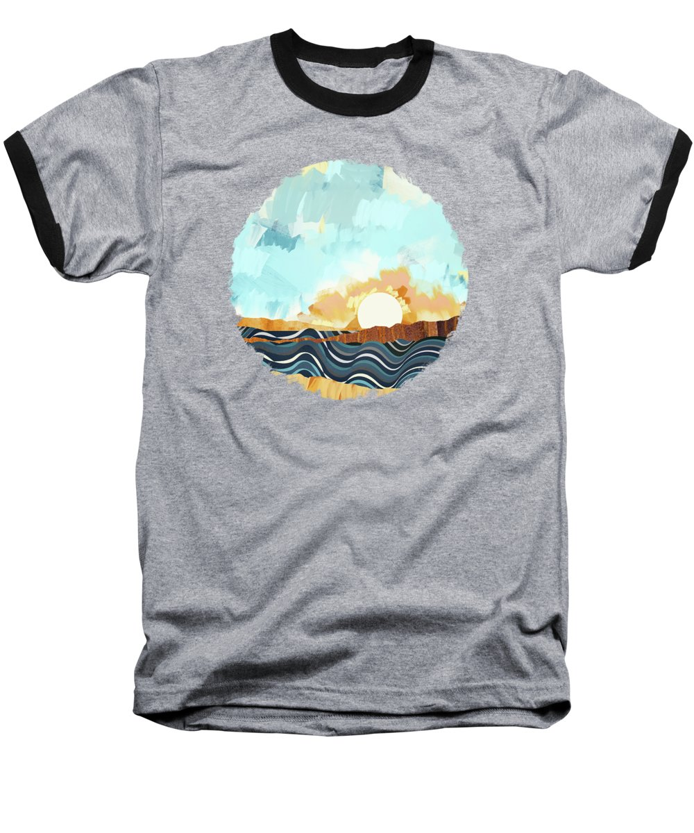 Beach Sunset Baseball T-Shirts