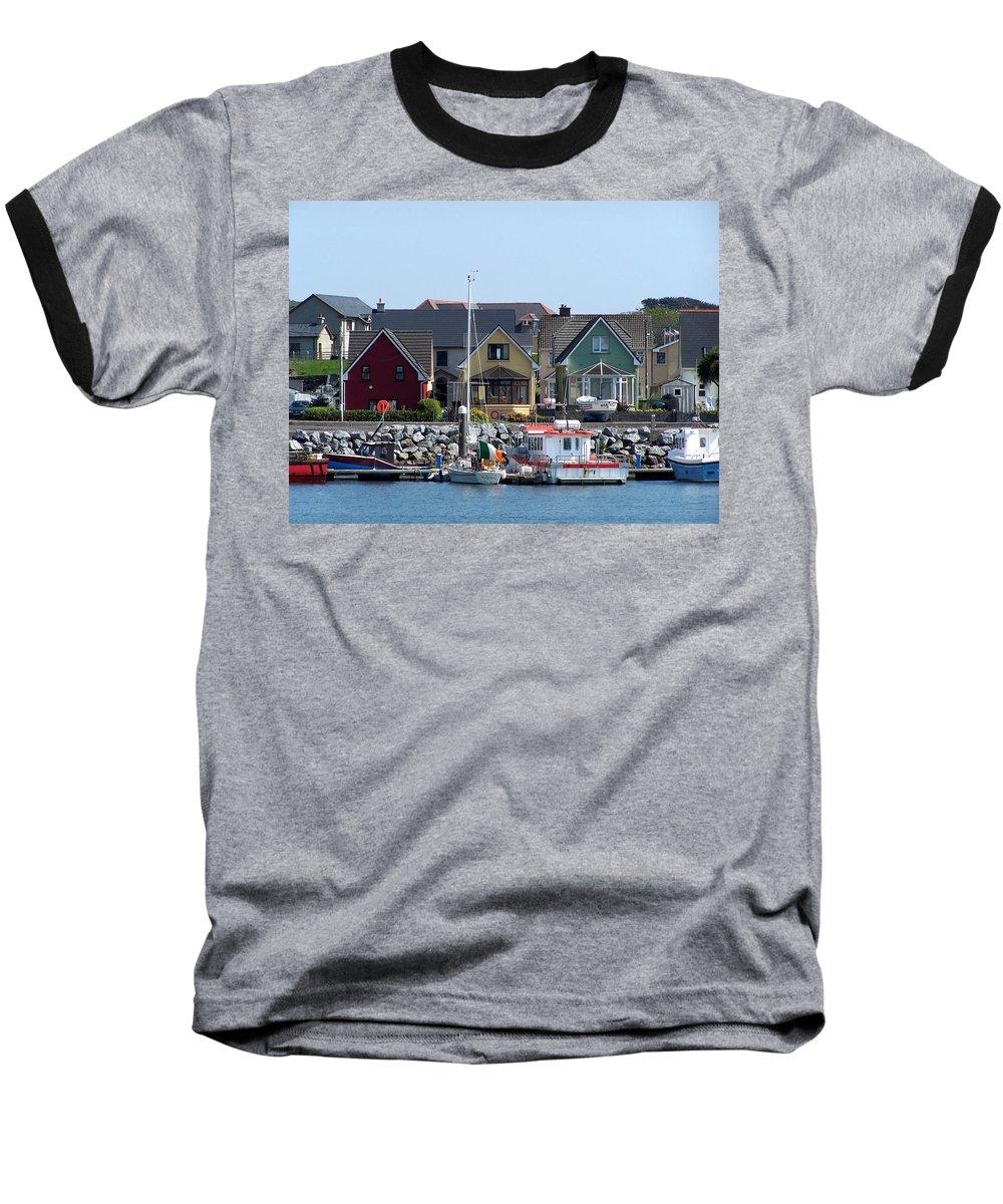 Irish Baseball T-Shirt featuring the photograph Summer Cottages Dingle Ireland by Teresa Mucha