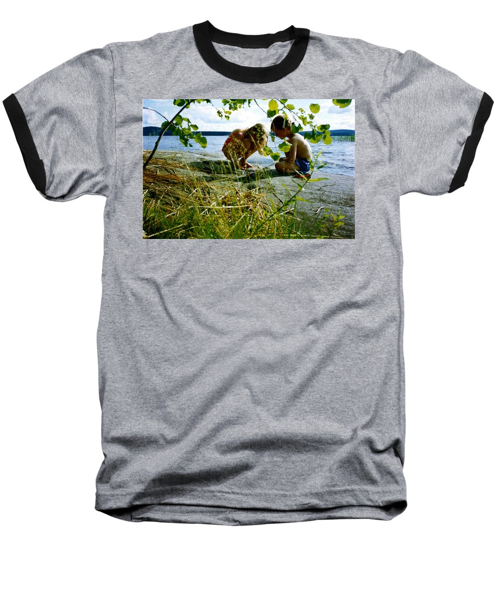 Kids Baseball T-Shirt featuring the photograph Summer Fun In Finland by Merja Waters