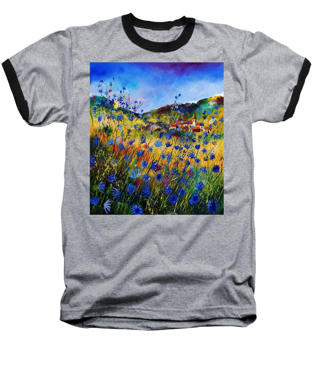 Flowers Baseball T-Shirt featuring the painting Summer Glory by Pol Ledent