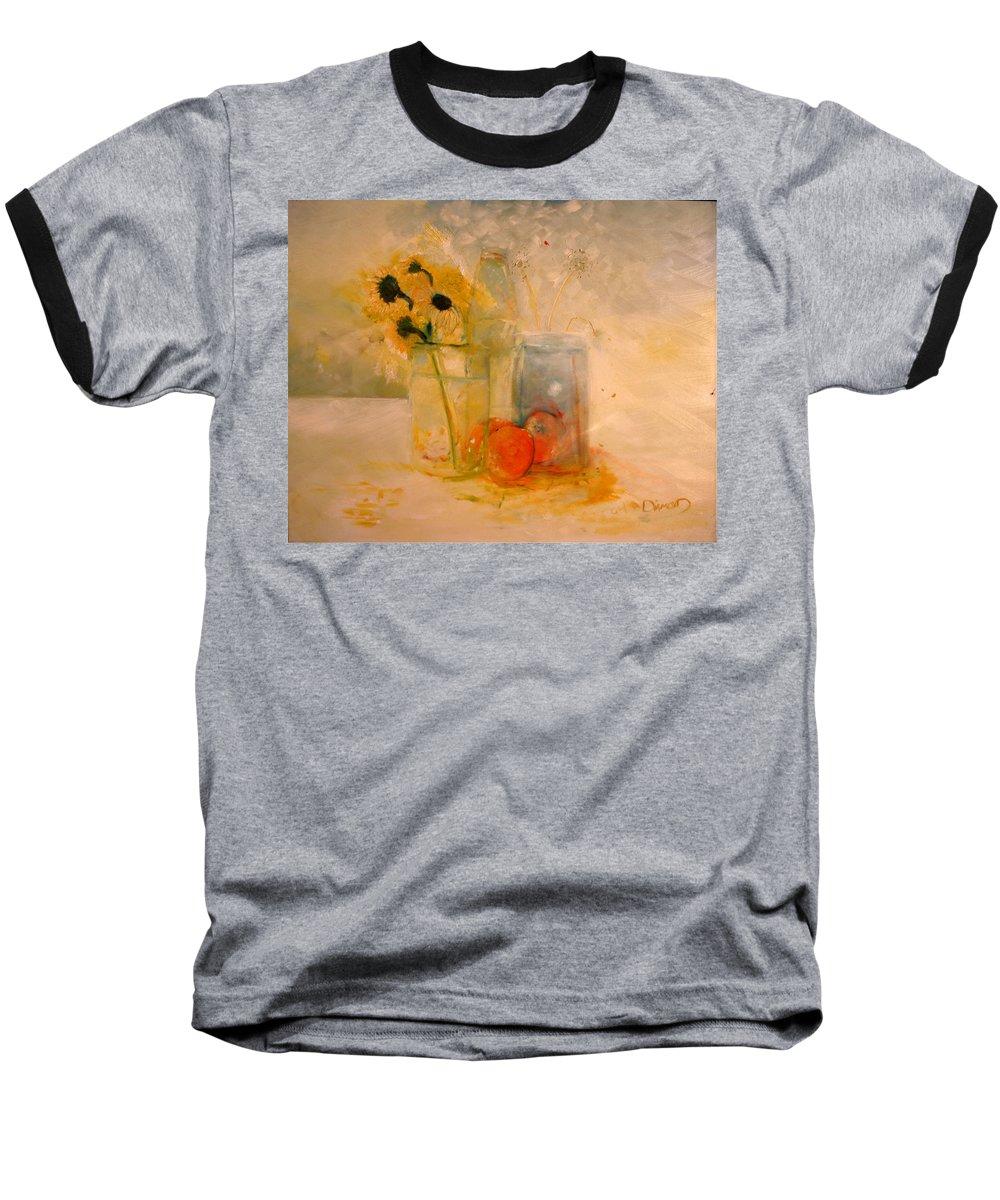 Daisey Baseball T-Shirt featuring the painting Summer Light by Jack Diamond