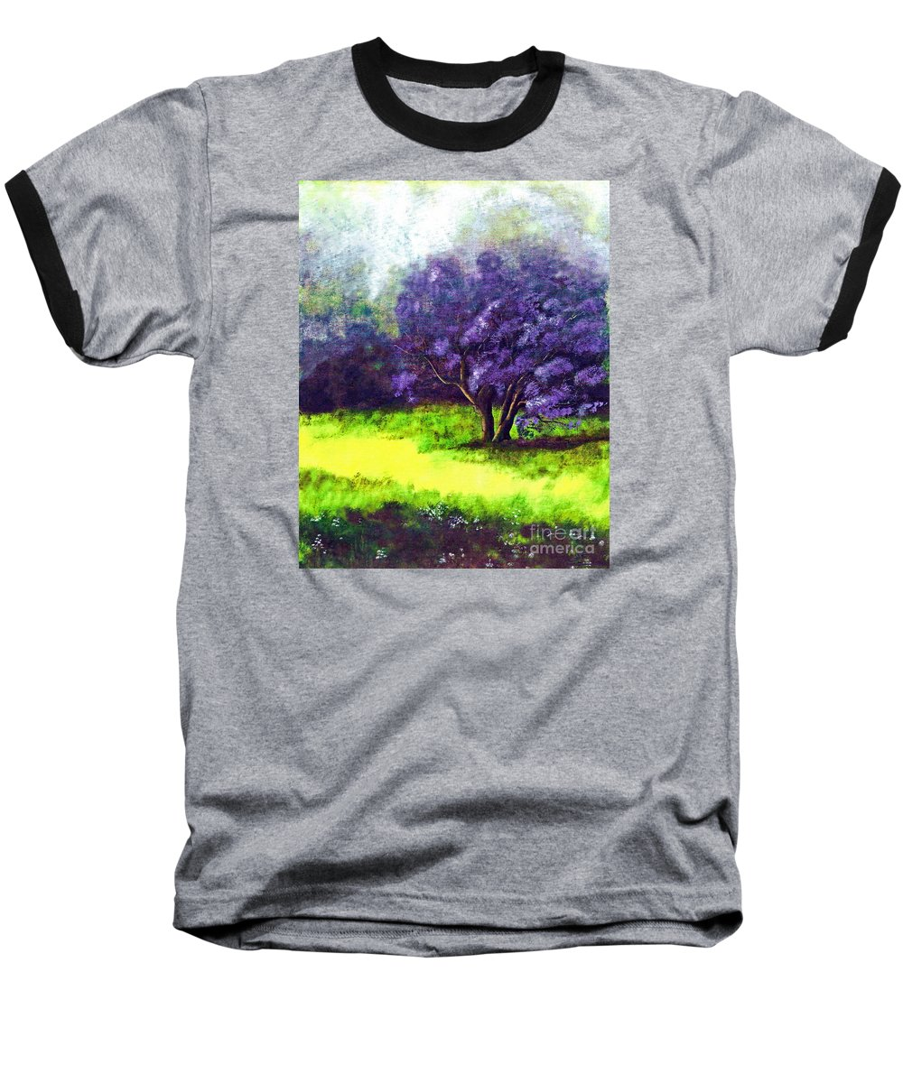 Fine Art Print Baseball T-Shirt featuring the painting Summer Mist by Patricia Griffin Brett