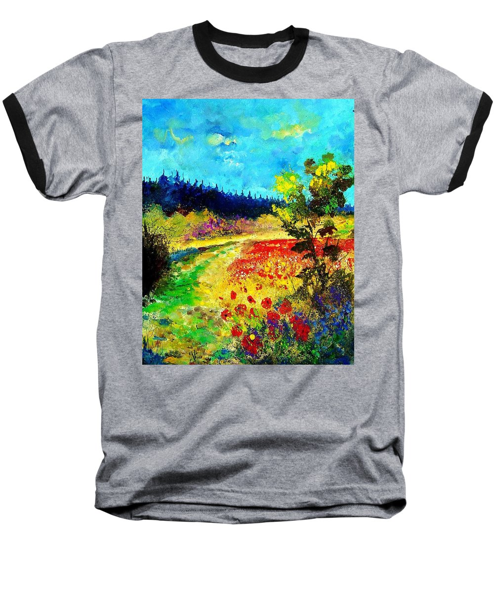 Flowers Baseball T-Shirt featuring the painting Summer by Pol Ledent