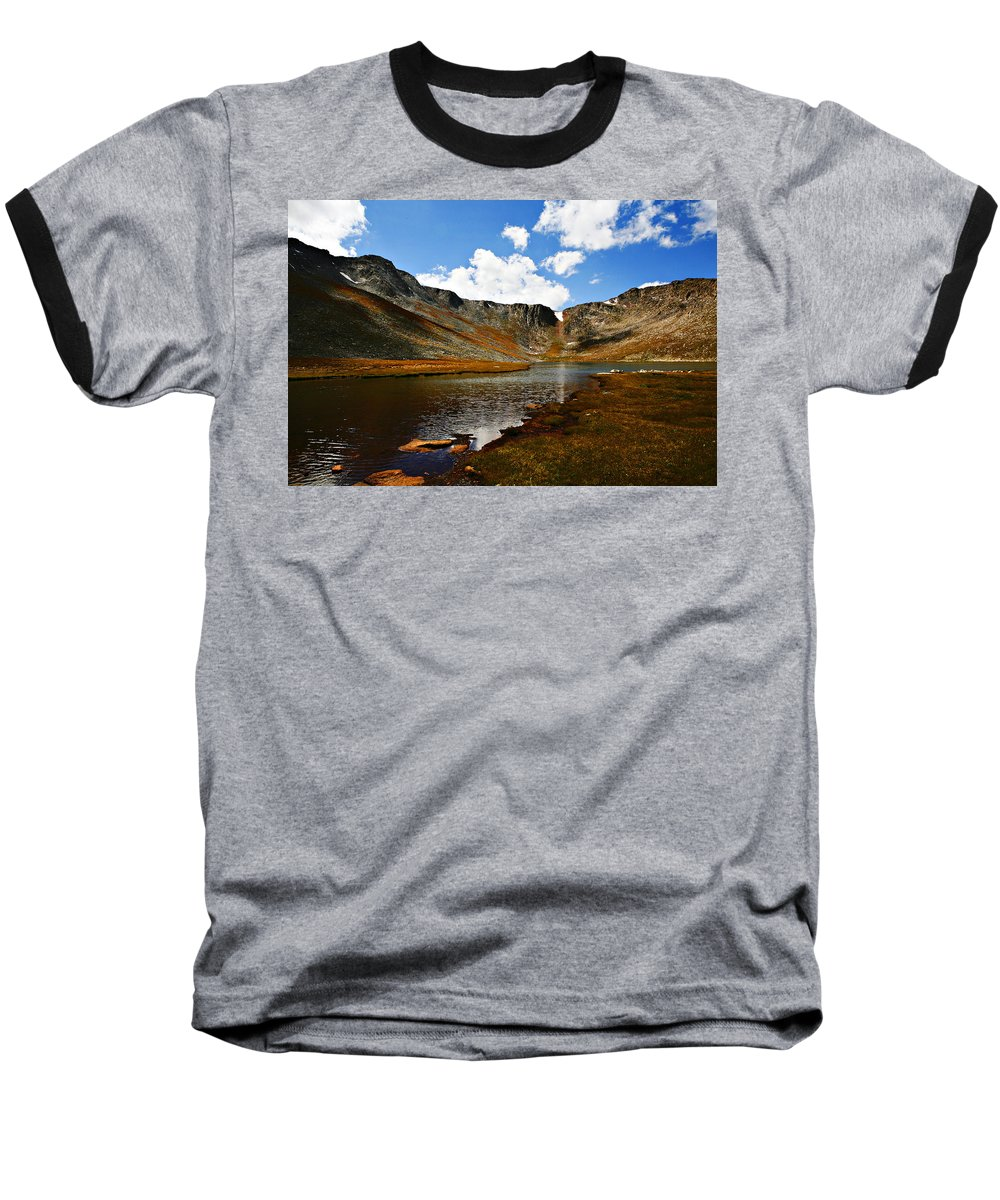 Travel Baseball T-Shirt featuring the photograph Summit Lake Colorado by Marilyn Hunt
