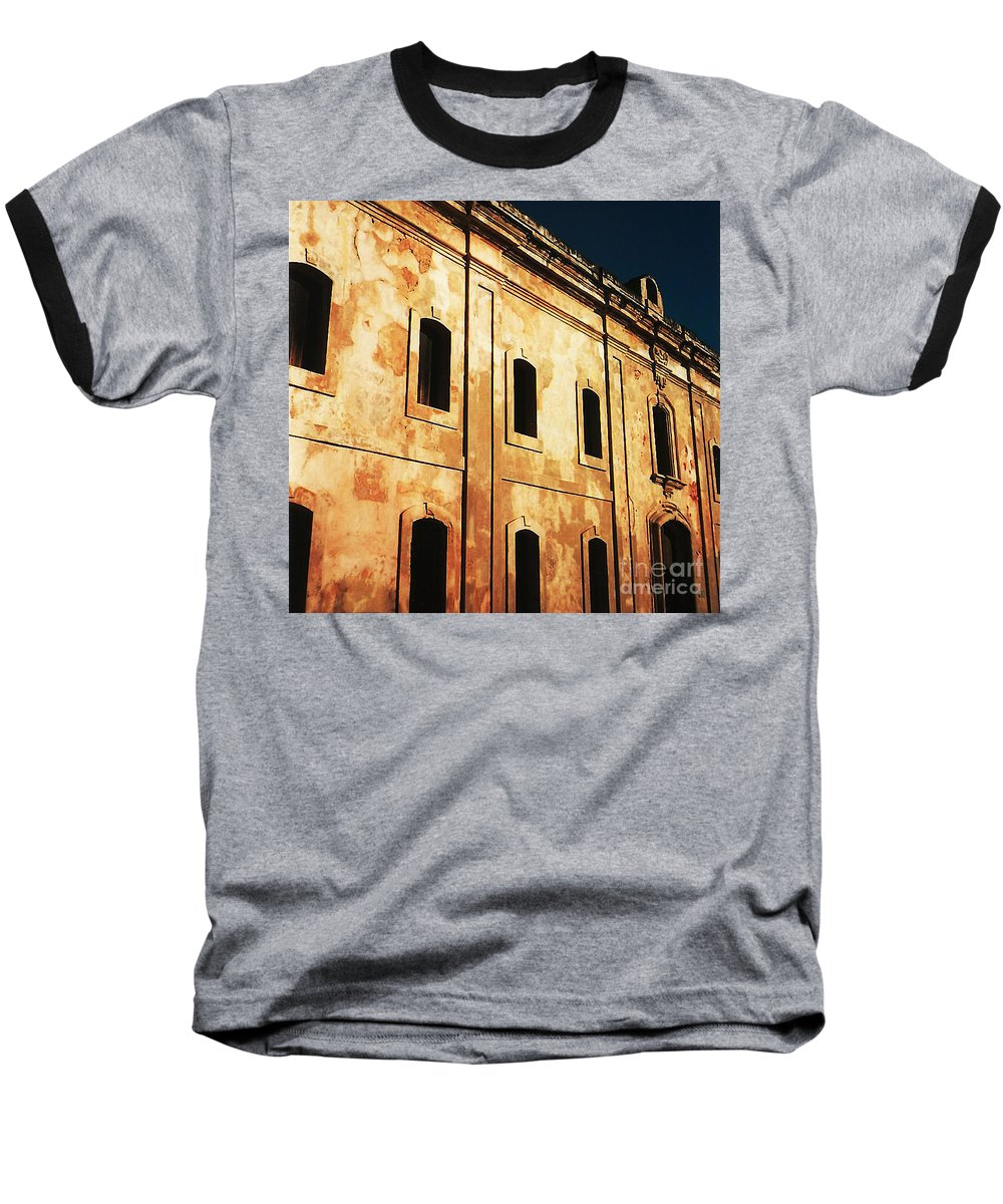 Buildings Baseball T-Shirt featuring the photograph Sun Kissed by Jeff Barrett